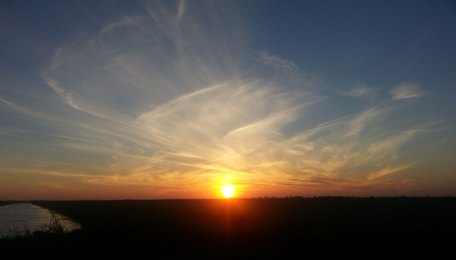 Sunset over the Rio Grande Valley